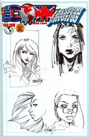 The Cow Spring 2000 Preview Jay Company Originals Fathom Michael Turner Sketch Edition x2 OA COA A